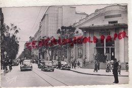 AFRIQUE - TUNISIE- TUNIS- AVENUE DE CARTHAGE  CAFE DU CASINO ET PALMARIUM- 1951 - Tunisia
