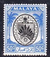 Malaysia-Negri Sembilan SG 59 1949 Arms, 50c Black And Blue, Mint Hinged - Negri Sembilan