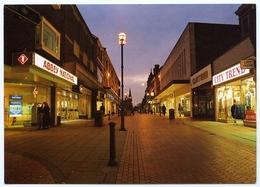 WREXHAM : REGENT STREET AT DUSK, ABBEY NATIONAL - Denbighshire