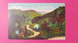 09 Ariège, Le Mas D'Azil, La Vallée De L'Arize, Vue Du Mas D'Azil, Animée, Train Vapeur, Colorisée, 1935, (Labouche) - France