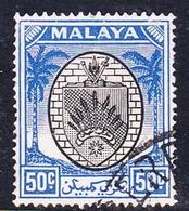 Malaysia-Negri Sembilan SG 59 1949 Arms, 50c Black And Blue, Used - Negri Sembilan