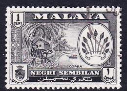 Malaysia-Negri Sembilan SG 68 1957 Definitives, 1c Black, Used - Negri Sembilan