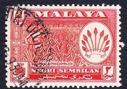 Malaysia-Negri Sembilan SG 69 1957 Definitives, 2c Orange, Used - Negri Sembilan