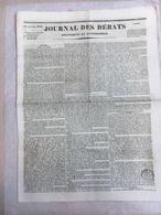 """Lot De 93 Journaux  Titre :  """" Le Journal Des Débats """" Année 1833 - Journaux - Quotidiens"""