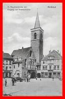 CPA ERFURT (Allemagne)  Alt-Erfurt. St. Aegidienkirche Mit Eingang Zur Krämerbrücke, Animé...D494 - Erfurt
