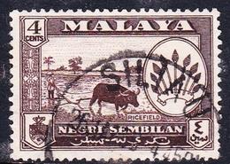 Malaysia-Negri Sembilan SG 70 1957 Definitives, 4c Sepia, Used - Negri Sembilan