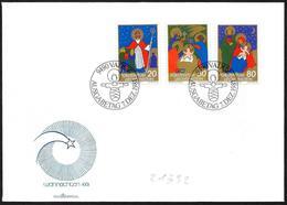 Liechtenstein: FDC, San Nicola, Re Magi, Sacra Famiglia, St. Nicholas, Magi, Holy Family, Saint Nicolas, Mages, Sainte F - Noël