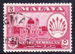 Malaysia-Negri Sembilan SG 71 1957 Definitives, 5c Carmine-lake, Used - Negri Sembilan
