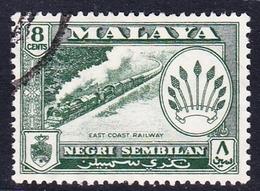 Malaysia-Negri Sembilan SG 72 1957 Definitives, 8c Myrtle-green, Used - Negri Sembilan