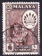 Malaysia-Negri Sembilan SG 73 10c Brown, Used - Negri Sembilan