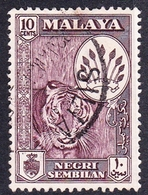 Malaysia-Negri Sembilan SG 73 1957 10c Purple, Used - Negri Sembilan