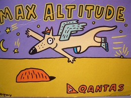Avion / Airplane / QANTAS / Max Altitude / Advertising Card / Pub / Airline Issue - 1946-....: Modern Era