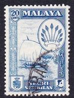 Malaysia-Negri Sembilan SG 75 1957 20c Blue, Used - Negri Sembilan