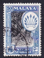 Malaysia-Negri Sembilan SG 76 1957 50c Black And Blue, Used - Negri Sembilan