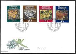 Liechtenstein: FDC, Muschi E Licheni, Mosses And Lichens, Mousses Et Lichens - Vegetazione