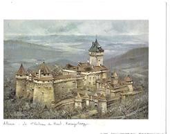 Gravure Sur Papier 20 *15 Couleur  Legendre Alsace Le Chateau Du Haut KOENIGBOURG 1978 Ed KRISSARTS STRASBOURG - Oils