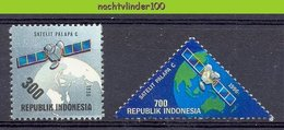 Mgm1671 RUIMTEVAART TRANSPORT TELECOM SATELLIET SATELLITE PALAPA C PLANET EARTH SPACE INDONESIA 1996 PF/MNH - Space
