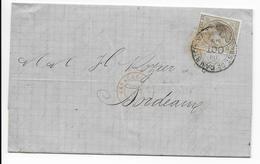 1878 - ESPAGNE - LETTRE De BARCELONA Avec CACHET ESTAFETA DE CAMBIO => BORDEAUX - Cartas
