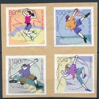 RFA - Pour Le Sport YT 1730-1733 Obl. / Bund - Sporthilfe Mi.Nr.1898-1901 Gest. - Gebraucht