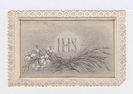 Carnet IHS, Sur Fond Bordé De Dentelle Type Canivet. Editeur: Bouasse Lebel. (114) - Imágenes Religiosas
