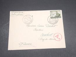 ALLEMAGNE - Enveloppe De Linz Pour La France En 1944 Avec Contrôle Postal , Affranchissement Plaisant  - L 18783 - Briefe U. Dokumente