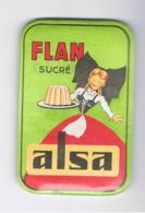 """Miroir De Poche Publicitaire = Flan """" ALSA """" Pâtisserie, Dessert,... (fr60) - Publicité"""