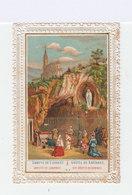 Image Pieuse Grotte De Lourdes Avec Bordure Dentelle Type Canivet. Editeur: Vaurs. (115) - Santini