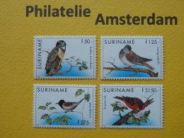 Suriname 1997, FAUNA BIRDS OISEAUX VOGELS VÖGEL AVES: Mi 1619-22, ** - Unclassified