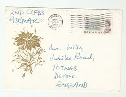 1967 BAHAMAS  Air Mail COVER Stamps 8c Development To GB - Bahamas (...-1973)