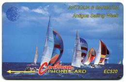 ANT-13Ba Sailing Week (CN On Silver) 13CATB, Silver, Normal Zero - Antigua And Barbuda