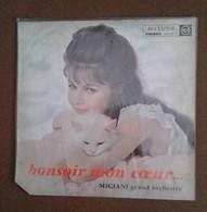 DISQUE VINYLE RCA  VICTOR 33 TOURS MIGIANI GRAND ORCHESTRE BONSOIR MON COEUR 1962   L IDOLE DES JEUNES  TU AMOR - Other - French Music
