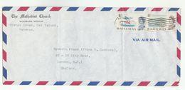 1968 BAHAMAS  Air Mail  METHODIST CHURCH WINDWARD MISSION ORANGE CREEK COVER To GB Stamps Religion - Bahamas (...-1973)