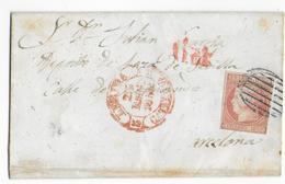 1852 - ESPAGNE - LETTRE SC De LERIDA => BARCELONA - 1850-68 Königreich: Isabella II.