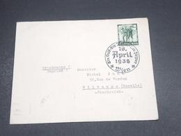 ALLEMAGNE - Enveloppe De Wien Pour La France En 1938 , Oblitération Temporaire - L 18793 - Briefe U. Dokumente