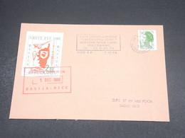 FRANCE - Timbre De Grève D 'Ajaccio Sur Enveloppe Pour Nice En 1988 - L 18795 - Strike Stamps