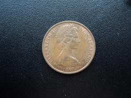 NOUVELLE ZÉLANDE : 2 CENTS  1967   KM 32.1     SUP - Nouvelle-Zélande