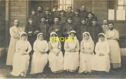 14-18, Carte Photo De Poilus Convalescents ( 139ème, Alpin Du 57 ème... ) Infirmières Et Médecins, Phot Rodet Lyon - Guerre 1914-18