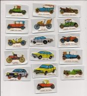 Joli Lot De 16 Petites Autos Miniatures Autocollantes - Toutes Marques Et Différentes Peugeot, Renault, Simca Ect.... - Voitures