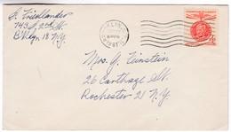 M296 USA Lettre Brooklyn To Rochester With Mahatma Gandhi Stamp - Mahatma Gandhi