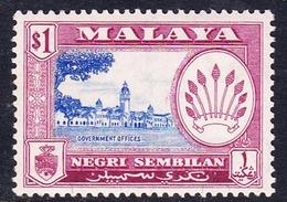 Malaysia-Negri Sembilan SG 77 1957 Definitives, $ 1.00 Ultramarine And Reddish Purple, Mint Hinged - Negri Sembilan