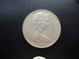 NOUVELLE ZÉLANDE : 20 CENTS  1973  KM 36.1    TTB - New Zealand