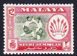 Malaysia-Negri Sembilan SG 78 1957 Definitives, $ 2.00 Bronze-green And Scarlet, Mint Hinged - Negri Sembilan