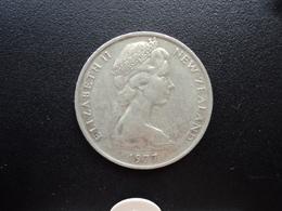 NOUVELLE ZÉLANDE : 20 CENTS  1977   KM 36.1    TTB / SUP - Nouvelle-Zélande
