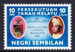 Malaysia-Negri Sembilan SG 80 1961 Installation Of Tuanku Munawir, Mint Hinged - Negri Sembilan