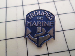 Pin313b Pin's Pins / Beau Et Rare : Thème MILITARIA / INSIGNE TROUPES DE MARINE ANCRE ET CORDAGE - Army