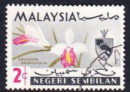 Malaysia-Negri Sembilan SG 82 1965 Orchids, 2c, Used - Negri Sembilan