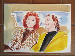 Acquarello Con Sophia Loren - Aquarelles