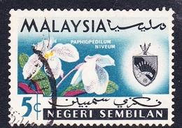 Malaysia-Negri Sembilan SG 83 1965 Orchids, 5c, Used - Negri Sembilan
