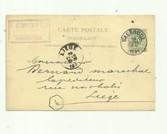 Baesrode Postkaart 1891, Reclame Baesrode - P Vermylen & Fils, Van  Baesrode Naar Liege - Dendermonde