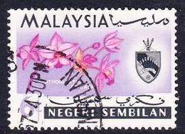 Malaysia-Negri Sembilan SG 84 1965 Orchids, 6c, Used - Negri Sembilan